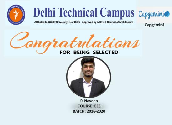 Congratulation P Naveen